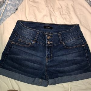 Blue jean shorts from Forever21. Really cute!